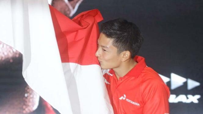 Pembalap Manor Racing Team, Rio Haryanto.