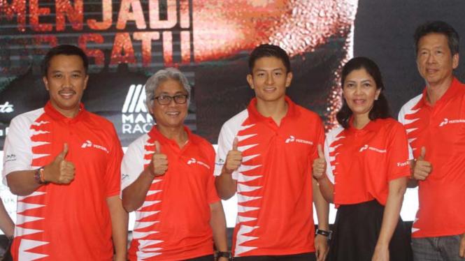 Pebalap Indonesia dari tim Manor Racing, Rio Haryanto