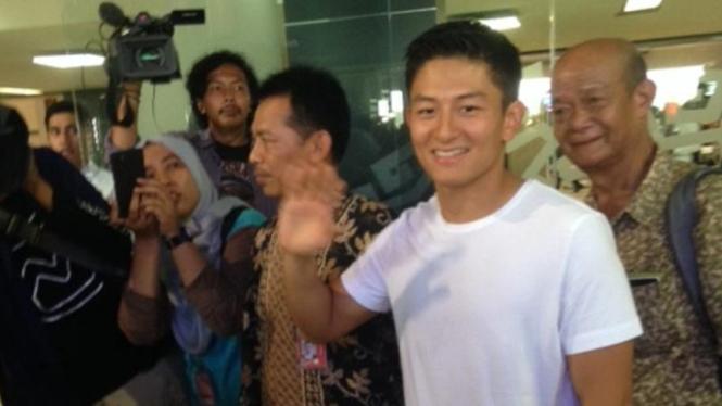 Pembalap muda Indonesia, Rio Haryanto, jelang keberangkatan ke Barcelona