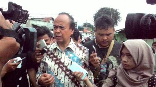 Komisioner Komnas HAM Hafid Abbas di Kalijodo, Jakarta (19/2/2016)