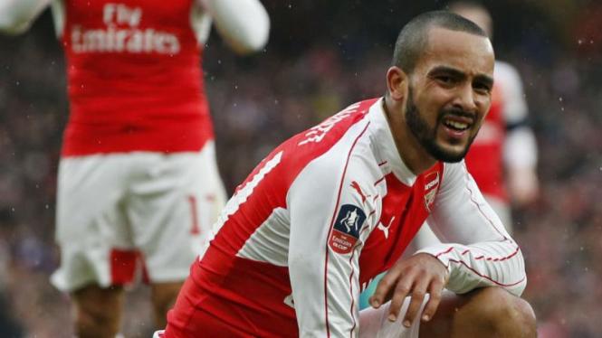 Penyerang Arsenal, Theo Walcott.