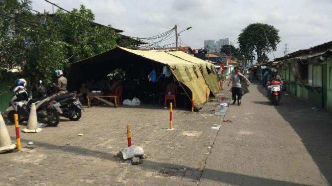 Suasana Kawasan Kalijodo Jakarta