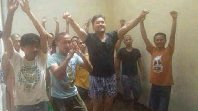 Saipul Jamil di dalam tahanan Polsek Kelapa Gading, Jakarta Utara