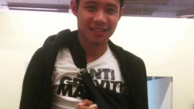 Gelandang muda Indonesia, Evan Dimas, mengalami cedera tangan.