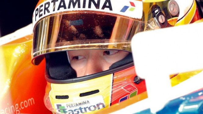 Pembalap Manor Racing, Rio Haryanto.