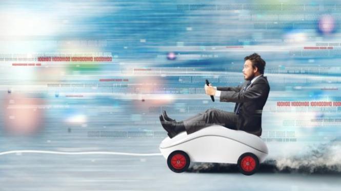 Ilustrasi kecepatan menjelajah internet.