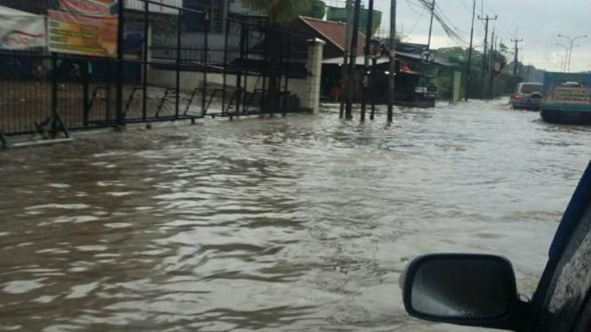 Banjir di Cikarang Barat Bekasi