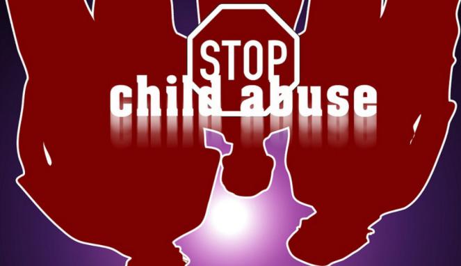 Poster anti-kekerasan terhadap anak.
