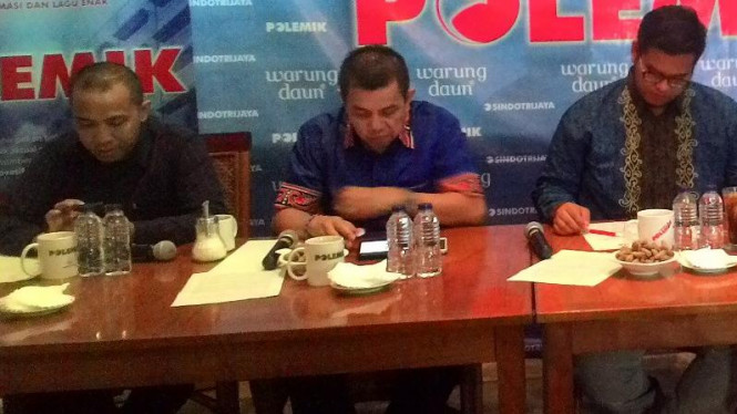 Diskusi bertema 'Alangkah Lucunya Sepakbola Kita' di Warung Daun, Jakarta,.