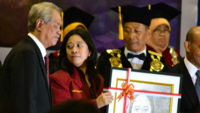 Puan Maharani saat di Universitas Muhammadiyah Malang, Sabtu (27/2/2016)