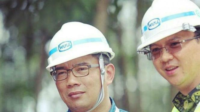Wali Kota Bandung Ridwan Kamil dan Gubernur DKI Jakarta, Basuki Tjahaja Purnama alias Ahok