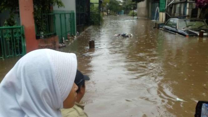 Banjir di Ragamukti Bojonggede, Depok.