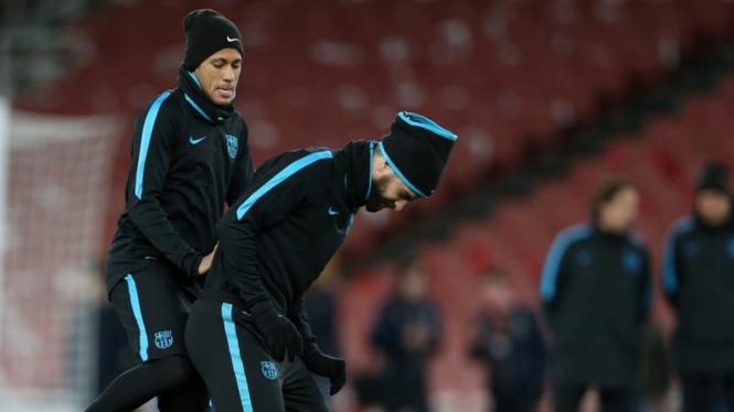Pemain Barcelona, Neymar dan Gerard Pique