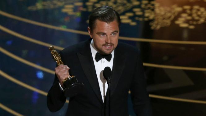 Leonardo DiCaprio raih Oscar untuk Aktor Terbaik