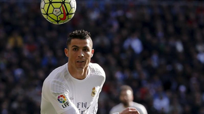 Pemain Real Madrid Cristiano Ronaldo.