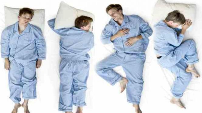 Macam - macam posisi tidur.