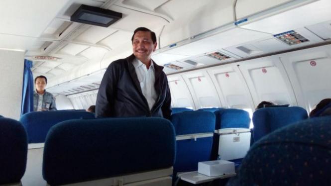 Menko Luhut Pandjaitan dalam kunjungan kerja ke Provinsi Riau, Rabu, 2 Maret 2016
