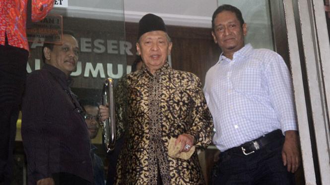 Hamzah Haz saat di Polda Metro Jaya.