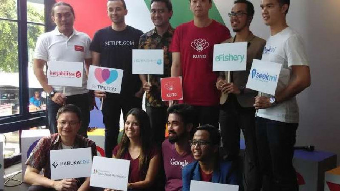 Delapan startup Indonesia yang berguru ke markas Google di AS.
