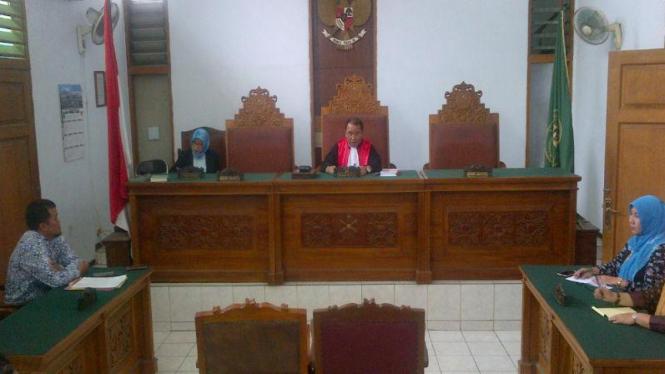 Suasana sidang praperadilan di Pengadilan Negeri Jakarta Selatan