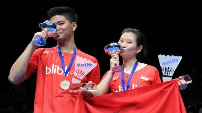 Pasangan ganda campuran Indonesia, Praveen Jordan dan Debby Susanto, juara All England 2016