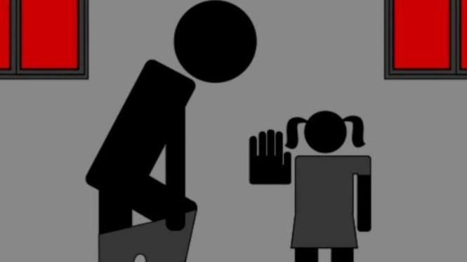 Ilustrasi kekerasan pada anak.