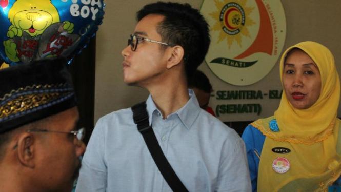 Gibran Rakabuming saat berada di RS PKU Muhammadiyah, Solo.