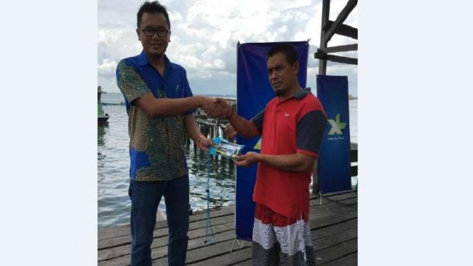XL bagi mFish ke nelayan di Yogyakarta