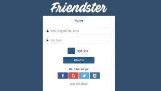 Tampilan halaman muka Friendster.id.