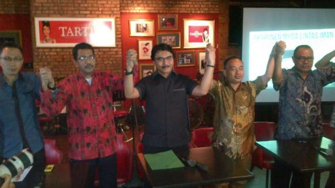 Bakal cagub DKI, Adhyaksa Dault, menerima usulan calon wagub dari EMLI, Kamis, 17 Maret 2016.