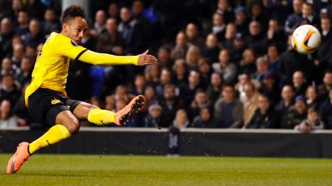Penyerang Borussia Dortmund, Pierre-Emerick Aubameyang.