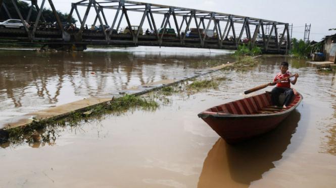 Ilustrasi/Bencana banjir di Bandung Selatan beebrapa waktu lalu.