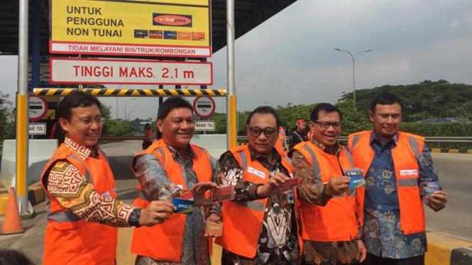 Para petinggi bank BUMN bersama Dirut Jasa Marga.