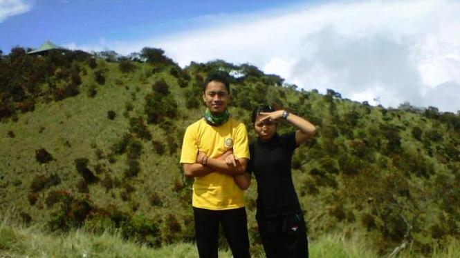 Salah satu foto kami di Gunung Lawu