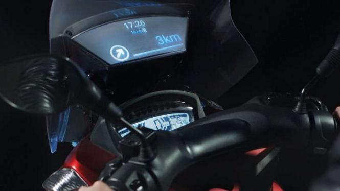 Pelindung angin motor Yamaha buatan Samsung.