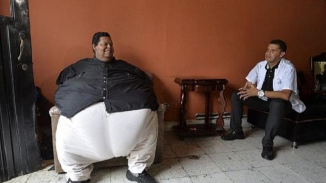 Pria paling gemuk di Kolombia.