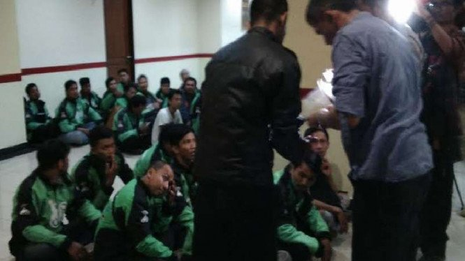 Puluhan pengemudi Gojek diamankan di Polda Metro Jaya