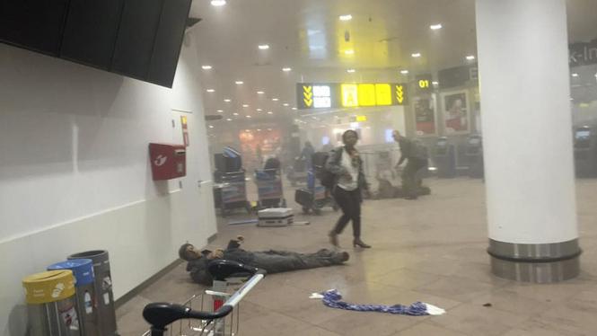 Ledakan bom di bandara internasional Brussels