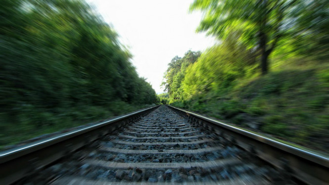 Ilustrasi rel kereta