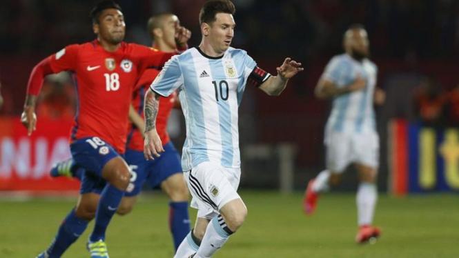 Kapten Timnas Argentina, Lionel Messi.