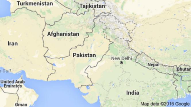 Peta Pakistan dan negara sekitarnya