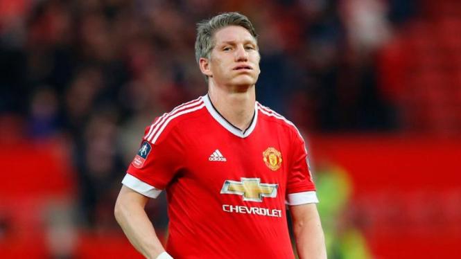 Gelandang Manchester United, Bastian Schweinsteiger.