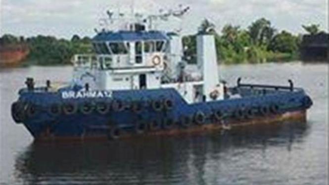 Ilustrasi kapal Tugboat.