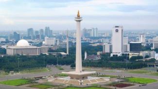Cuaca Jakarta cerah berawan.
