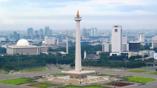 Ilustrasi/Cuaca Jakarta cerah berawan.