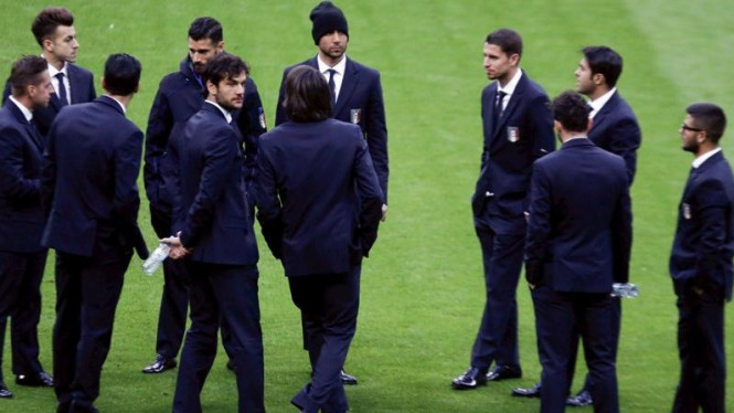 Timnas Italia jelang laga uji coba kontra Jerman di Allianz Arena