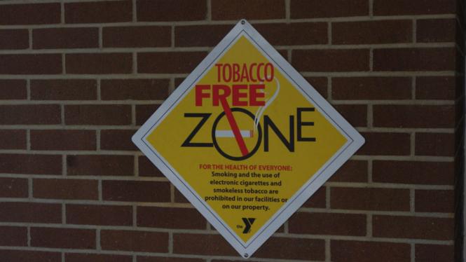 Ilustrasi dilarang merokok.