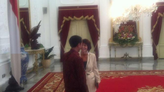 Presiden Jokowi terima Wapres Swiss, Doris Leuthard