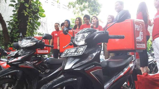 Peluncuran aplikasi GoAhok di Jakarta, Kamis, 31 Maret 2016