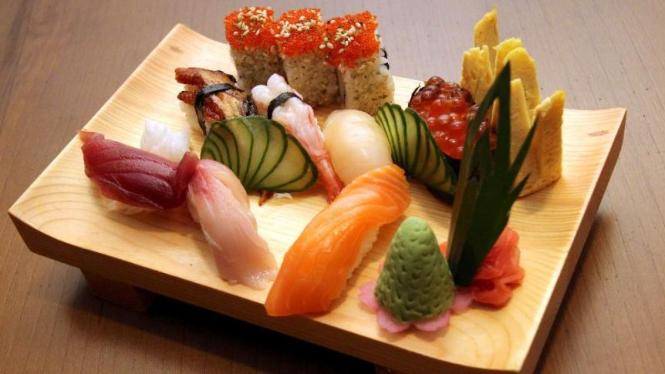 Menu di Restoran Jepang Miyagi